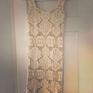 Free people intimate, fitting cream colored dress